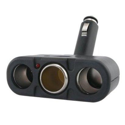 SODIAL(WZ.) Dreifach-Steckdose KFZ Zigarettenanzuender Auto Zigarettenanzuender Verteiler LED Adapter Dreifach-steckdose Verteiler