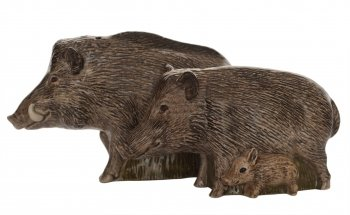 Quail Ceramics Wild Boar Salt & Pepper Pots from Quail Ceramics
