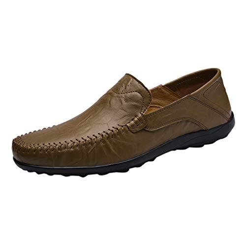 LANSKRLSP Mocassini Uomo Pelle Estivi Pantofole Casual Eleganti Slip On Scarpe da Guida Scarpe da Barca Loafers 5 Colori 39-47
