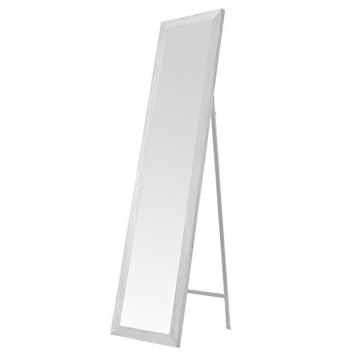 Espejo de pie nórdico Blanco de Madera DM para Dormitorio de 37 x 157 cm Fantasy - LOLAhome