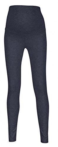 Happy Mama. Damen dehnbar Leggings Umstandsmoden elastischer Taillenbund. 975p (Jeans Melange, 38, M)