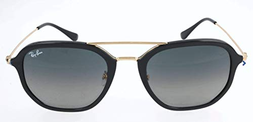 RAYBAN JUNIOR Unisex-Erwachsene Sonnenbrille RB4273 Black/Gradient Green 52