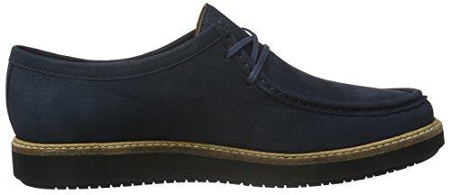 Clarks Glick Bayview, Chaussures Richelieu à Lacets Femme Bleu (Navy)