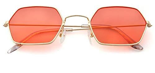 11 Farben Damen Quadrat Sonnenbrille Herren Damen Gelb Kleine Metallrahmen Polygon Brille Weiblich 45246