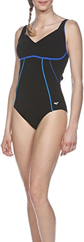 Arena Damen Badeanzug Bodylift Mary C-cup black/Bright blue/Turquoise, 40