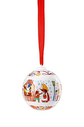 Hutschenreuther Weihnachtsmarkt Ø 6 cm Porzellankugel, Porzellan, Bunt