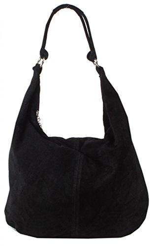 taschentrend-varese-grosse-schultertasche-hobobag-leder-handtaschen-damen-velour-wildleder-henkeltas