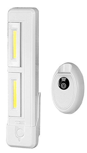 Lunartec Unterbauleuchte: Schrank-Unterbau-Leuchte mit 2 COB-LEDs, 2 Watt, 80 Lumen, Fernbedien. (LED kabellos Leiste)