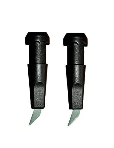 10 mm HARTMETALL ROLLERSPITZEN (1 Paar) inkl. Heißkleber NORDIC BLADING ROLLERSPITZE