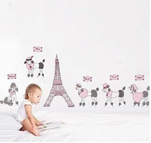 Walplus Stickers muraux Tour Eiffel/mouton