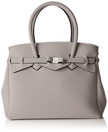 a74cd95645bd Save My Bag Damen Miss Plus schultertasche, Grau (TURTLE TRT), 34x29x18 cm