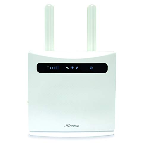 STRONG 4G LTE WLAN Router 300 (LTE bis 150 Mbit/s, 2.4 GHz WiFi @ 300 Mbit/s, 802.11b/g/n, 4X LAN Ports, 2X SIM Adapter) weiß