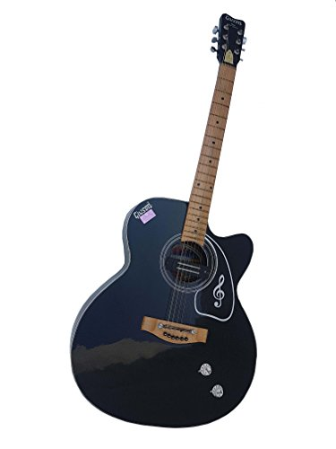 Givson Venus Super Special, 6-Strings, Semi-Electric Guitar, Right-Handed, Black, With Guitar Cover/Bag  available at amazon for Rs.6990