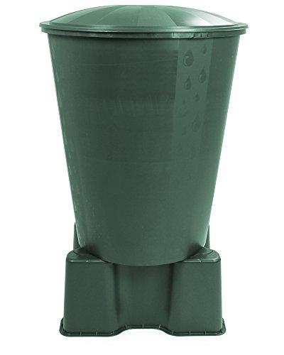 Ondis24 Wassertank Fass Aqua Regentonne mit Deckel und Ständer Ecotank grün 310 Liter
