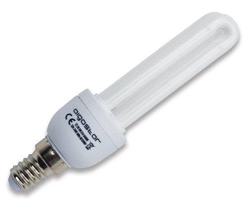 Aigostar 110918-Energiesparlampe T22U 9W, kleines Gewinde und kühles Tageslicht, A, 230V, E14