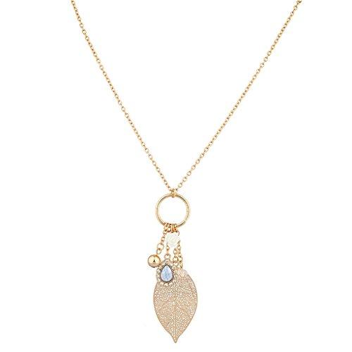 lux-accessori-boho-foglia-bianco-naturale-pietra-ciondolo-collana