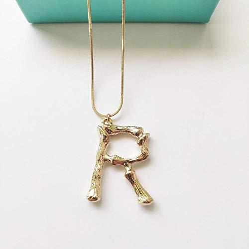 XLLJA Damen Anhänger,Buchstabenkette, englischer Anhänger Schlüsselbeinkette Schmuck-Gold