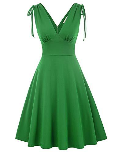 50s Vintage Retro Partykleid Strandkleid Swing Kleid Casual grün partykleidGröße 2XL BP898-2 Vintage 1950s Swing