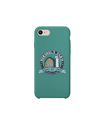 ead Hershels Zombie Farm Logo_R5003 Protective Case Cover Hard Plastic Compatible with for iPhone 7 Funny Gift Christmas Birthday Novelty ()