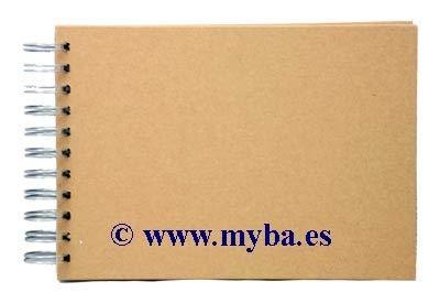 Sammelalbum Scrapbooking Spiralbindung A5 Braun -