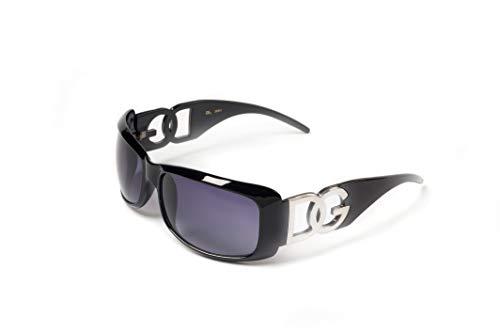 38cdc725d6 DG Eyewear Lunettes - Noir avec verres effet miroir pour femmes Designer Lunettes  de soleil pour