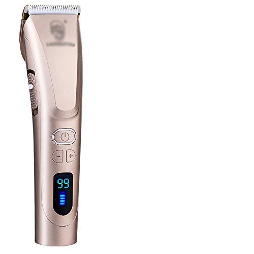 QIAO Multifunktions elektrische haarschneidemaschine, wiederaufladbare haarschneidemaschine, LCD-Display, Hause Erwachsene haarschneidemaschine, stumm,Gold
