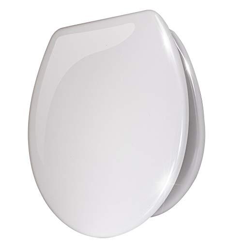 Stel4Style WC-Sitz mit Absenkautomatik Toilettensitz Klodeckel Klositz Toilettendeckel, Motiv:Weiß