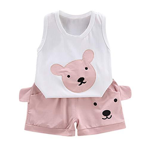Anzug FüR Kinder Sommer Säuglings Cartoon Bär Print Tops + Shorts Outfit Set (Mama Bär Kostüm)