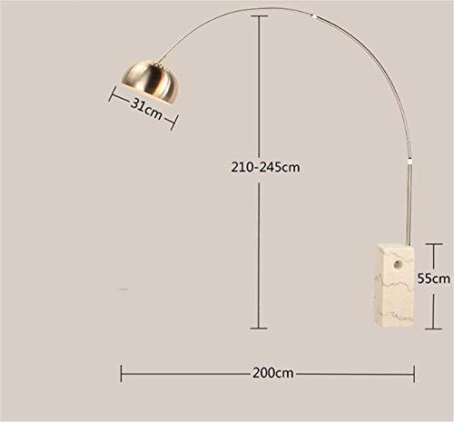 Square Marmor (Hochwertige Light Square Column Marmor Angeln Stehlampen Mode Italienisches Design Parabolische Stehlampe C Wohnzimmer Esszimmer Lichter)