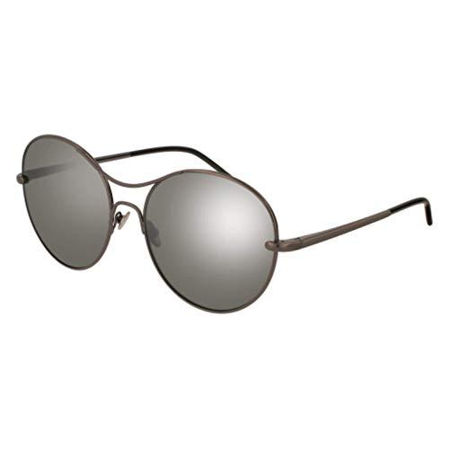 Pomellato pm0034s 001, occhiali da sole donna, grigio (001-ruthenium/silver), 57