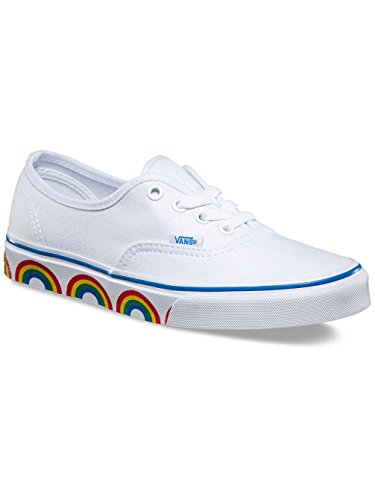 Vans Ua Authentic, Scarpe da Ginnastica Basse Donna (Rainbow Tape) True White