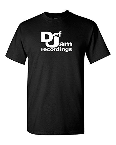 QHWHTX® Def Jam Recordings T Shirt - Hip Hop Classic Music Record Label Run DMC New York