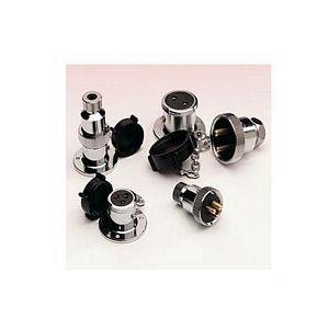 Waterproof Plug And Socket - Plastic Cap - 2 - 3 Amp Complete 3 Pin. Test