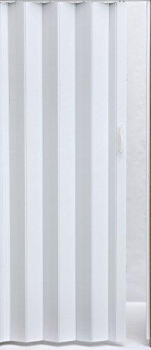 Falttür Schiebetür Tür Kunststofftür rein weiss farben Höhe 203 cm Einbaubreite bis 92 cm Doppelwandprofil Neu acco011-92