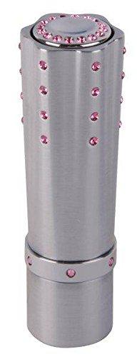 Damen Feuerzeug Hadson SL GV Lipstick chrom mit rosa Swarovski-Steinen Piezo