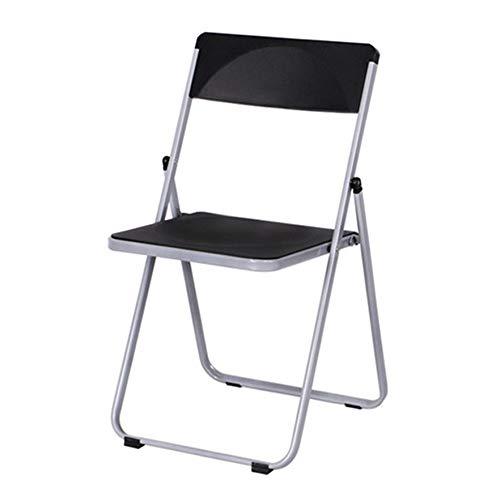 Ouqian-OP Klappstuhl Klappstuhl Büro Besprechungsraum Stuhl Ausbildung Stuhl Negotiation Stuhl Kunststoff Lounge Chair Für Geschäftstreffen (Farbe : Schwarz, Größe : 85x43x45cm) -