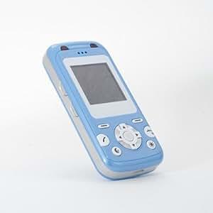 GPS portable pour enfants iBaby Q9 - best-seller en Allemagne du téléphone mobile pour enfant avec tracker GPS, vous trouverez votre enfant dans le monde entier par un bref appel téléphonique! - bleu métallique