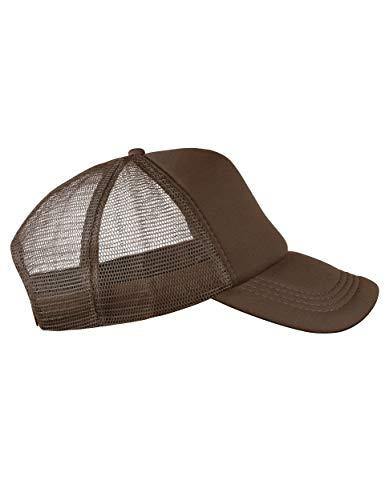 lassic Happy für Herren und Damen, One Size Snapback (Brown) ()