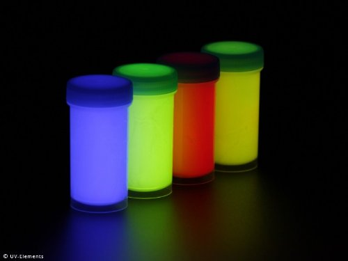 rbe Set 2 4x50ml (blau, grün, rot, gelb) (Uv-unsichtbare Farbe)