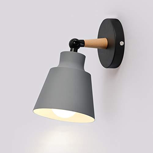 TopDeng Nordisch Verstellbar Wandleuchte, E27 Bunt Dekoration Wandlicht Moderne Wandlampe Bett Flur 22x23x13cm-Grau -