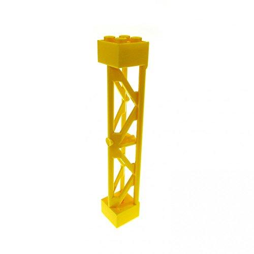Preisvergleich Produktbild 1 x Lego System Stütze gelb 2x2x10 Säule Pfeiler Träger Pillar Girder Triangular Vertical - Type 3 Construction 7775 7633 58827