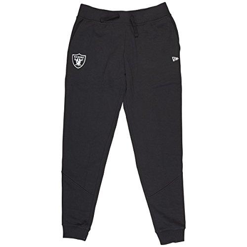 New Era Herren Oakland Raiders Fleece Hose Sporthose, Schwarz, XS