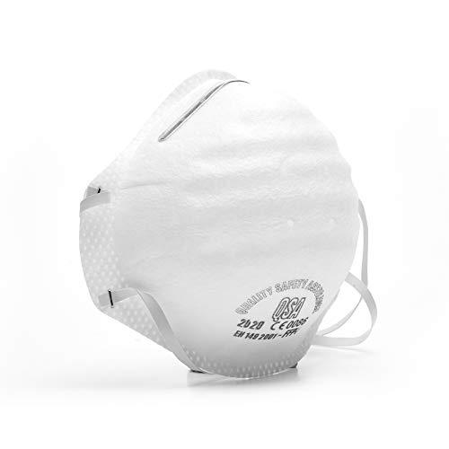 ffp3 Máscaras n95 Máscara antipolvo pm2.5 Máscara de filtro Respirador moldeado anticontaminación Máscaras desechables Máscara de pliegue plano, paquete de 1
