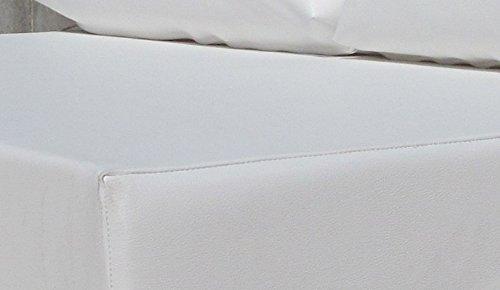Muebles-exterior BL - Cojín para europalet, 120 x 80 x 12 cm, color blanco