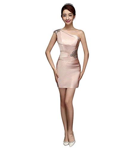 Drasawee Damen Schlauch Kleid Rose