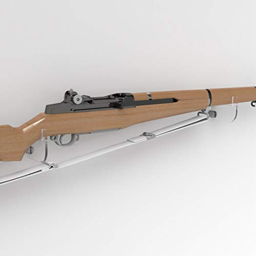 Plexico Gewehrhalter / Musketen-Halterung, Gewehr-Wandhalterung/Präsentationsständer, Acryl, transparent, farblos