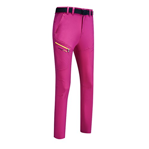 walk-leader Paare Herren Damen Outdoor Leichte Quick Dry Pants Nylon Camping Hose Gr. Small, Rose Red/Women (Burton Womens Clothing)