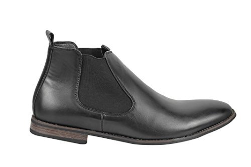Xposed , Boots montantes Chelsea homme Black-PU Leather