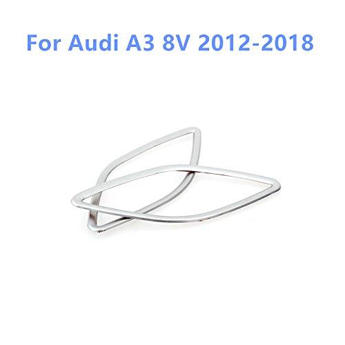 Per A3 8V 2012-2019 Interno in acciaio INOX anteriore Air Condition Vent cover Trim 2PCS