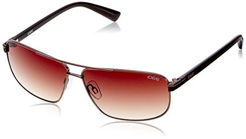 IDEE Square Sunglasses (IDS1824C3SG|100|Shiny Brown ) image